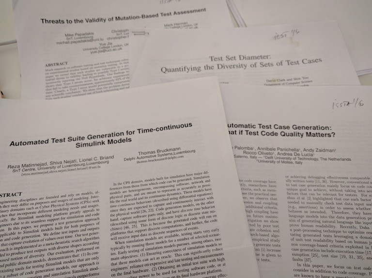 Research papers on software testing